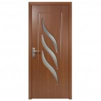 Usa de interior din lemn cu geam Super Door F12-78-S stanga / dreapta stejar inchis 203 x 78 cm