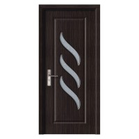 Usa de interior din lemn cu geam Super Door F12-78-T stanga / dreapta wenge 203 x 78 cm