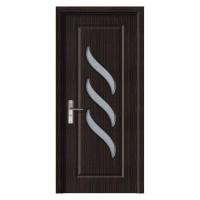Usa de interior din lemn cu geam Super Door F12-88-T stanga / dreapta wenge 203 x 88 cm