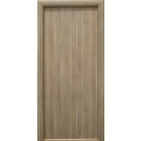Usa interior celulara, Eco Euro Doors R80, dreapta, gri, 202 x 76 x 4 cm cu toc