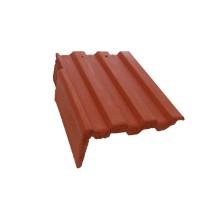 Tigla laterala stanga Bramac Markant, rosu caramiziu,330 x 420 mm