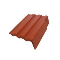 Tigla laterala dreapta Bramac Markant, rosu caramiziu, 330 x 420 mm