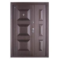 Usa interior metalica dubla BestImp B75GD, stanga/dreapta, maro, 202 x 140 cm