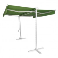 Copertina retractabila, dubla, actionata manual 60239D, 3 x 3 m