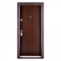 Usa metalica pentru exterior Megadoor Compact 1, dreapta, wenge, 200 x 88 cm + accesorii