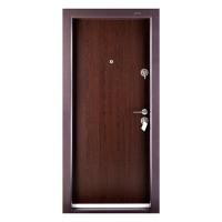 Usa metalica pentru exterior Megadoor Compact 1, stanga, wenge, 200 x 88 cm + accesorii