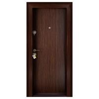 Usa metalica pentru exterior Megadoor Compact 2, dreapta, wenge, 200 x 88 cm + accesorii