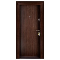 Usa metalica pentru exterior Megadoor Compact 2, stanga, wenge, 200 x 88 cm + accesorii