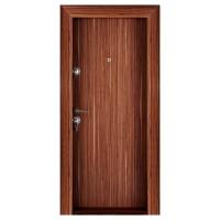 Usa metalica pentru exterior Megadoor Compact 2, dreapta, nuc, 200 x 88 cm + accesorii