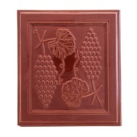 Placa medalion teracota Strugure maro