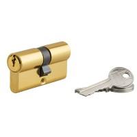 Cilindru siguranta profil european Serruprix, auriu, 3 chei frezate, 30 x 30 mm