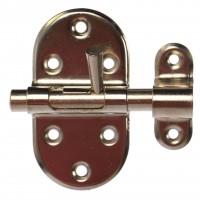 Zavor aplicat cu bolt rotund si mecanism blocare, argintiu, 35 x 65 mm