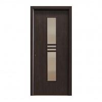 Usa interior celulara cu geam, Eco Euro Doors R80, dreapta, Gol D2, wenge, 202 x 86 x 4 cm cu toc