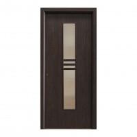 Usa interior celulara cu geam, Eco Euro Doors R80, dreapta, Gol D2, wenge, 202 x 76 x 4 cm cu toc