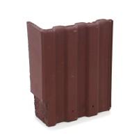 Tigla laterala dreapta Bramac Markant, brun roscat, 330 x 420 mm