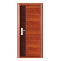 Usa interior metalica BestImp A09, stanga/dreapta, stejar inchis + wenge, 202 x 88 cm