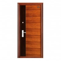 Usa interior metalica BestImp L09, stanga/dreapta, stejar inchis + wenge, 202 x 88 cm