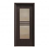 Usa interior celulara cu geam, Eco Euro Doors R80, dreapta, Gol D3, wenge, 202 x 86 x 4 cm cu toc