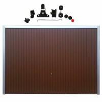 Usa garaj basculanta Hormann Light, maro (RAL 8028), 2500 x 2125 mm + actionare electrica usa garaj Liftronic 500