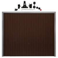 Usa garaj basculanta Hormann Light GSL, maro (RAL 8028), 2500 x 2125 mm + actionare electrica usa garaj Liftronic 500