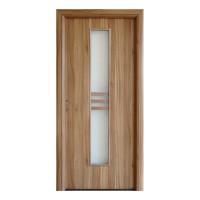 Usa interior celulara cu geam, Eco Euro Doors R80, dreapta, Gol D2, nuc 2, 202 x 86 x 4 cm cu toc