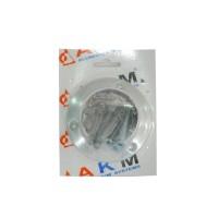 Flansa exterioara P7, aluminiu eloxat, argintiu, 50 mm