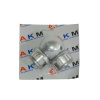 Ansamblu coltar P7, aluminiu eloxat, argintiu, 50 mm