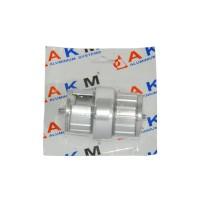 Prelungitor teava P7, aluminiu eloxat, argintiu, 50 mm