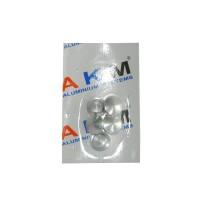 Capac vergea P7, aluminiu eloxat, argintiu, 16 mm, 5 buc / set