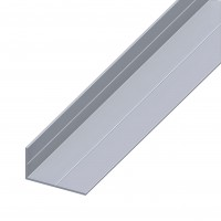 Profil aluminiu L, 2500 x 15.5 x 27.5 x 1.5 mm