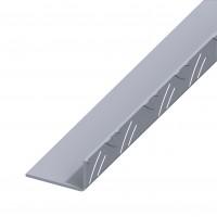 Profil aluminiu striat L, 2500 x 53.6 x 29.5 x 1.7 mm