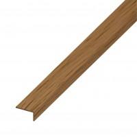Profil tip L, PVC, stejar, 1000 x 19 x 22 x 1.4 mm