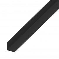 Cornier PVC negru, 1000 x 25 x 25 x 1.8 mm