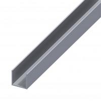 Profil aluminiu U, 1000 x 15.5 x 15.5 x 15.5 x 1.5 mm