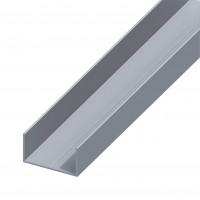 Profil aluminiu U, 1000 x 19.5 x 11.5 x 11.5 x 1.5 mm