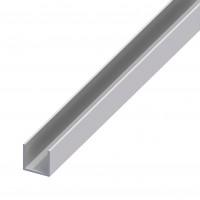 Profil aluminiu U, 2000 x 10.1 x 8.2 x 8.2 x 1.3 mm, argintiu