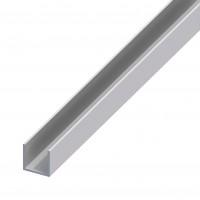 Profil aluminiu U, 1000 x 10.1 x 8 x 8 x 1.3 mm, argintiu