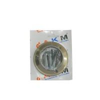 Flansa exterioara P1, aluminiu eloxat, bronz, 50 mm