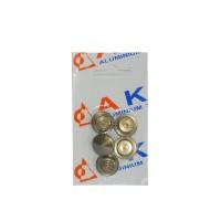 Capac vergea P7, aluminiu eloxat, bronz, 16 mm, 5 buc / set