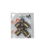 Ansamblu coltar vergea P1, aluminiu eloxat, bronz, 16 mm, 2 buc / set