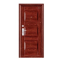 Usa interior metalica BestImp L08, stanga/dreapta, maro mat, 202 x 88 cm