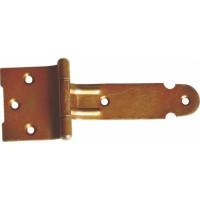 Balama pentru porti si casute, zinc galben, 90 x 24 mm