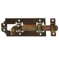 Zavor aplicat, inchidere cu lacat, zincat, 160 x 65 mm