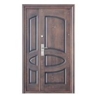 Usa interior metalica dubla BestImp A07D, stanga/dreapta, maro mat, 202 x 120 cm