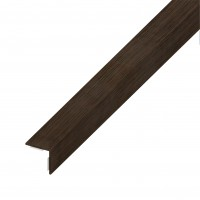 Cornier PVC cu adeziv, wenge, 1000 x 30 x 30 x 1.1 mm