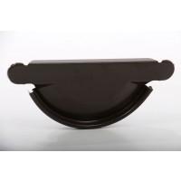 Capac pentru jgheab autoblocant Lindab Craft SE, brun, D 125 mm