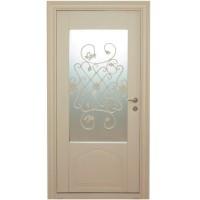 Usa metalica pentru exterior Tracia Fortuna, stanga, crem, 205 x 98 cm + accesorii