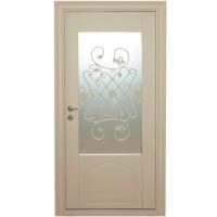 Usa metalica pentru exterior Tracia Fortuna, dreapta, crem, 205 x 98 cm + accesorii