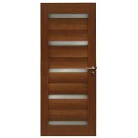 Usa de interior din lemn cu geam BestImp G1-78-J stanga / dreapta stejar auriu 203 x 78cm