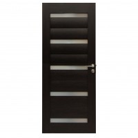 Usa de interior din lemn cu geam BestImp G1-78-W stanga / dreapta wenge 203 x 78 cm